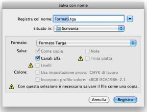 Formato TGA in Photoshop