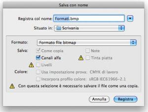 Formato BMP per Photoshop