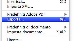 Esporta pdf