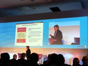 Barbara Pellow, InfoTrends Group Director: trend e opportunità future del mercato della stampa; uno dei più apprezzati interventi allo Xerox Forum.